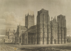 North-west view of the Cathedral church of Wells